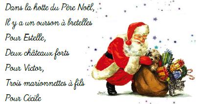 Poeme Lettre Au Pere Noel.Poesie Gs Cp Dans La Hotte Du Pere Noel Ecole Areva